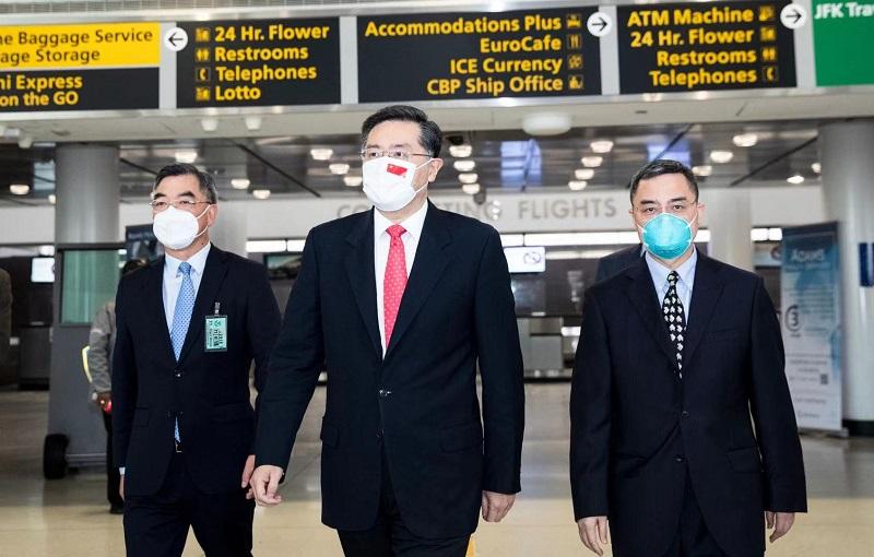 盛图官方:中国驻美大使秦刚抵美履新:中美关系大门打开 就不会关上(图1)