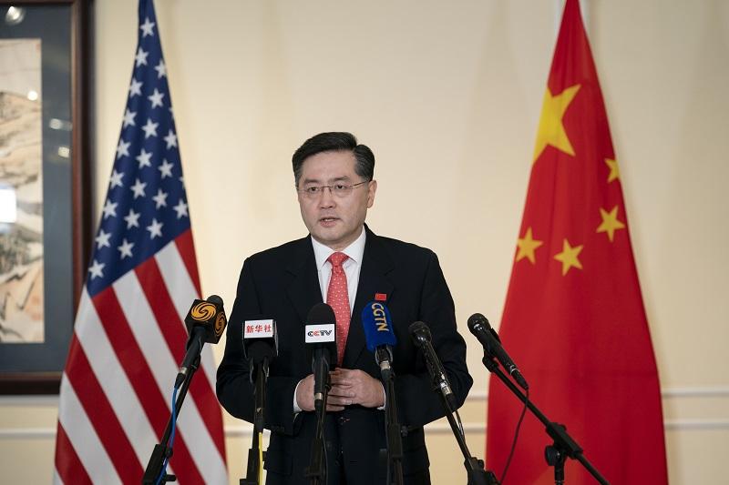 盛图官方:中国驻美大使秦刚抵美履新:中美关系大门打开 就不会关上(图3)